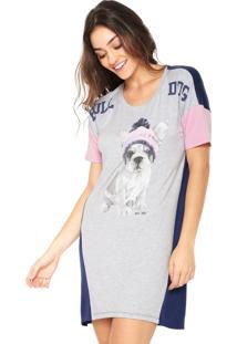 Camisola Any Any Mc Bulldog Cinza/Azul-Marinho