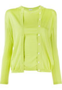 Malo Conjunto Com Blusa E Suéter De Tricô - Verde