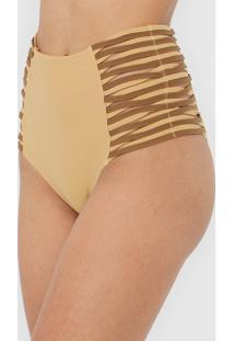 Calcinha Morena Rosa Hot Pant Strappys Caramelo - Caramelo - Feminino - Poliamida - Dafiti