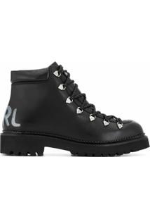 Karl Lagerfeld Ankle Boot Kombat Ii - Preto