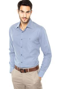 Camisa Vr Estampa Azul