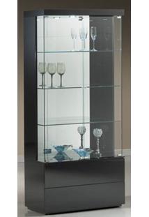 Cristaleira Francis 90 Cm Laca Preta Brilhante - 32401 Sun House