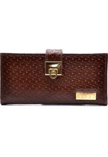 Carteira Hendy Bag Tricê Caramelo