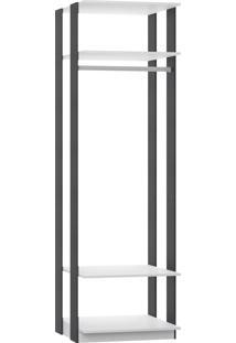 Estante Cabideiro Para Roupas Longas Branco Tx/Expresso Be Mobiliário