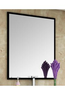 Espelheira Para Banheiro Urban/Pietra Preta C/ Requadro Bosi