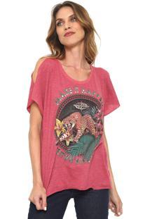 Camiseta Triton Off Shoulders Rosa