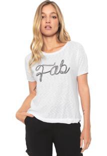Camiseta Dzarm Bordada Branca