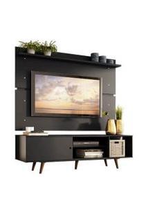 Rack Madesa Dubai E Painel Para Tv Até 65 Polegadas Com Pés Preto/Rustic