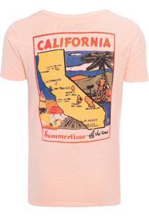 Camiseta Masculina Califórnia Summer - Laranja