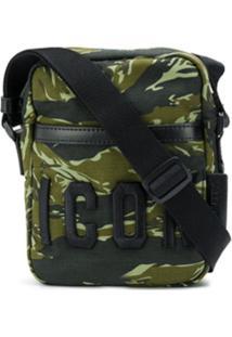 Dsquared2 Bolsa Transversal Icon Com Estampa Camuflada - Verde
