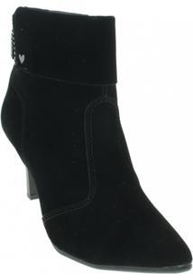 Bota Camurça Ankle Boots Mississipi Feminino - Feminino-Preto