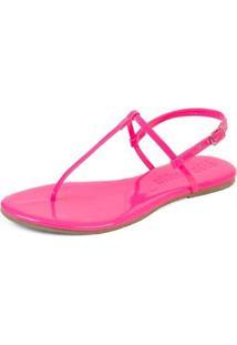 Sandália Flat Feminina Neon Mercedita Shoes Verniz - Feminino