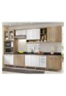 Cozinha Completa Multimóveis Com 8 Peças Sicília 5835 Argila/Branco