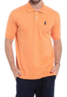 Camisa Polo Club Polo Collection Basic Laranja