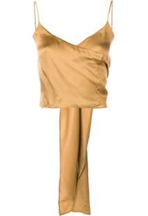 Uma Wang Blusa Envelope - Amarelo