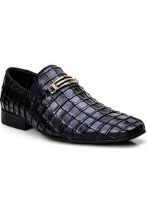 Sapato Social Calvest Elastico Lateral Napoleoni Preto Masculino - Masculino-Preto