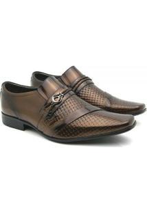 Sapato Social Couro Venetto Em Verniz Prince - Masculino-Cobre