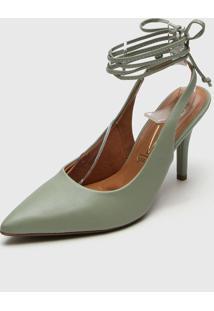 Scarpin Vizzano Amarraã§Ã£O Verde - Verde - Feminino - Sintã©Tico - Dafiti