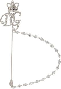 Dolce & Gabbana Crown Logo Brooch - Prateado