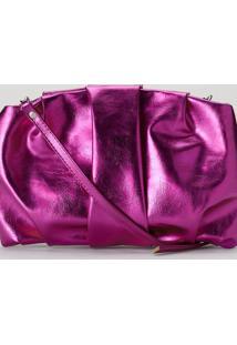 Bolsa Amaro Slouchy Alã§A RemovãVel Ros㪠Metalizado - Rosa - Feminino - Dafiti