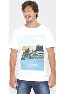 Camiseta Timberland Ilu Discover - Masculino-Branco