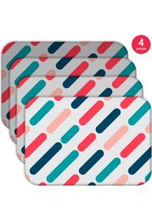 Jogo Americano Love Decor Wevans Geométrico Color Kit Com 4 Pçs