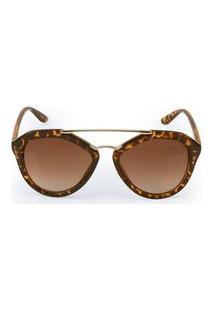 Óculos De Sol Euro Pontes Metalicas Marrom - Oc195Eu/8P Oc195Eu/8P