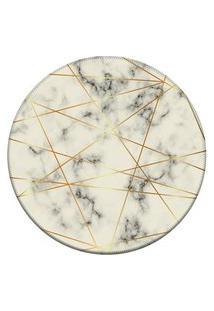 Tapete Love Decor Redondo Wevans Textura Marmore Off White 94Cm