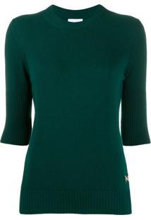 Barrie Blusa Canelada De Cashmere - Verde