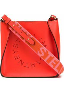 Stella Mccartney Bolsa Transversal Stella Mini Com Logo - Vermelho