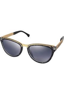 Óculos De Sol Titili Feminino Acetato Gateado - Preto