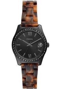 Relógio Fossil Scarlette Preto Es4638/1Pn Feminino - Feminino-Preto