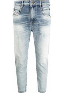 Diesel Calça Jeans Skinny Fayza - Azul