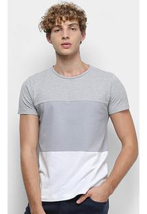 Camiseta Tommy Hilfiger Colour Block Texture Masculina - Masculino