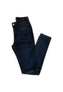 Calça Jeans Miller Deluxe Rasgada No Joelho Azul