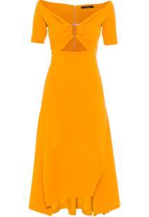 Vestido Malha Scuba - Amarelo