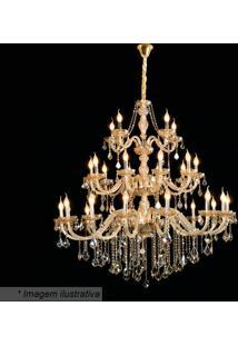 Lustre Maria Thereza- Cristal & Dourado- 135Xø130Cm
