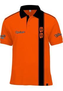 Camisa Polo Fórmula Retrô Opala Ss 1978 - Laranja