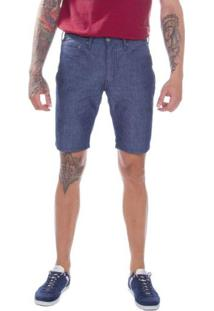 Bermuda Jeans Levis 511 Slim Hemmed Azul Média