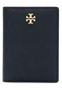 Tory Burch Carteira Emerson Com Logo - Azul