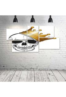 Quadro Decorativo - King-Skull - Composto De 5 Quadros - Multicolorido - Dafiti
