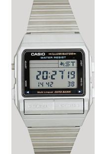 Relógio Digital Casio Unissex - Db3801Df Prateado - Único