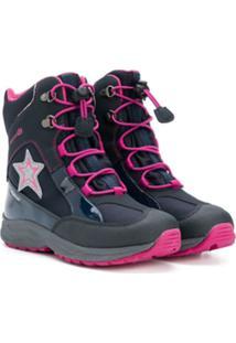 Geox Kids Ankle Boot Com Cadarço - Azul