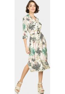 Vestido Chemise Mídi Estampa Yucatan - Lez A Lez