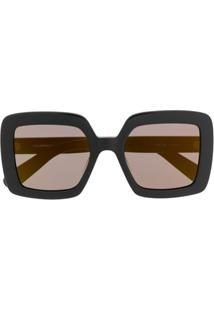 Courrèges Eyewear Square Oversized Sunglasses - Preto
