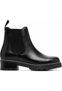 Carvela Ankle Boot Com Pesponto Contrastante - Preto