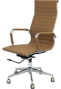 Cadeira Eames Alta Caramelo Base Cromada - 25608 - Sun House