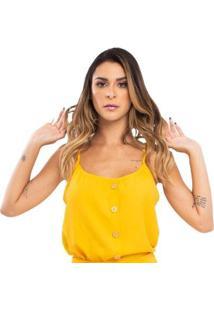 Blusa Wilma Linho Movimento - Feminino-Amarelo
