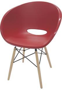 Cadeira Elena Vermelha Com Base 3D 92081040 Tramontina