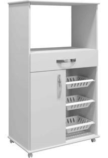 Armário Cozinha Com Fruteira Fortaleza Arte Móveis -Branco